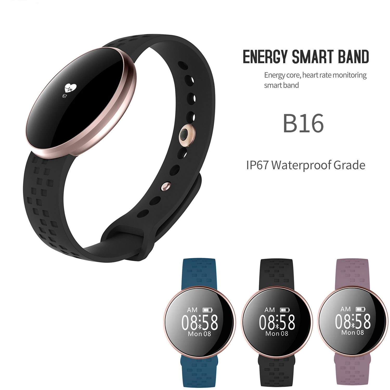 New Fashion Women Smartwatch Smart Watch For IOS Android With Fitness Sleep Monitoring Waterproof Remote Camera Relogio Feminino
