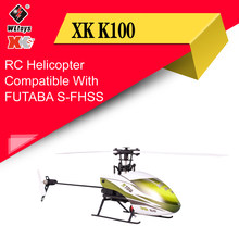 Wltoys XK K100 6CH 3D 6G System Remote Control Toy Brushless Motor RC Helicopter With Transmitter Compatible With FUTABA S-FHSS(China)