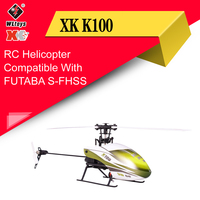 Wltoys XK K100 6CH 3D 6G System Remote Control Toy Brushless Motor RC Helicopter With Transmitter Compatible With FUTABA S FHSS