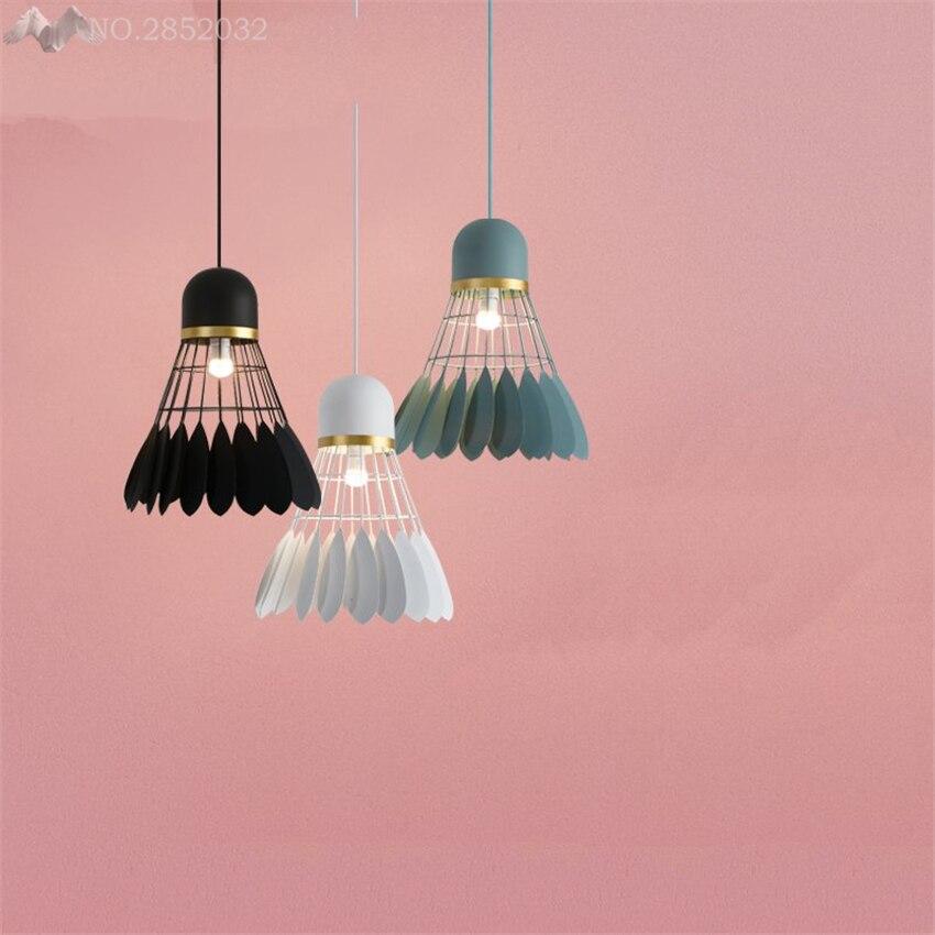 Nordic creative badminton pendant lamps iron pendant lights for ...