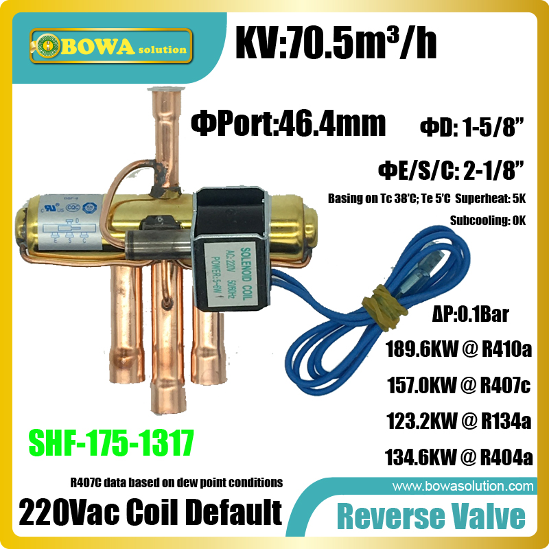 167KW(R410a) 4-way Reverse valves is suitable for 54TR cooling capacity refrigeration equipments or air condtioner systems univeral expansion valves suitable for wide cooling capacity range and different refrigerants fridge equipments or freezer units