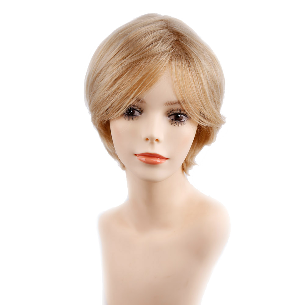 Amir Short Blonde Wig Straight Hair Full Synthetic Hair Wigs Glueless Women's Wig For Africa American Cosaplay Wigs