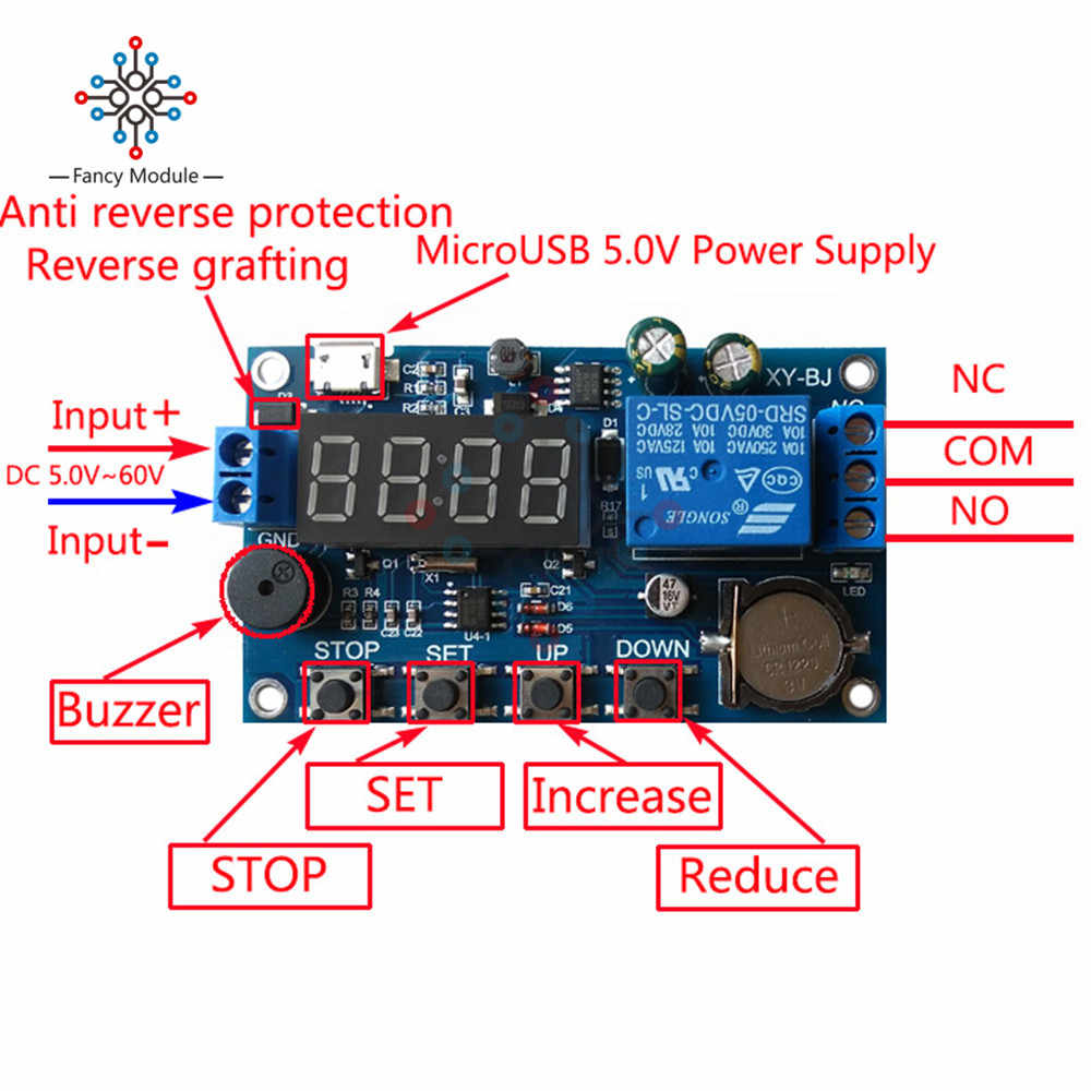 Detail Feedback Questions about DC 5V Real time Timing Delay Timer on well pump pressure switch diagram, off delay timer triac, light timer for lighting diagram, off delay relay, hks turbo timer diagram, ic 555 timer diagram, timer switch diagram, dimmer switch installation diagram,