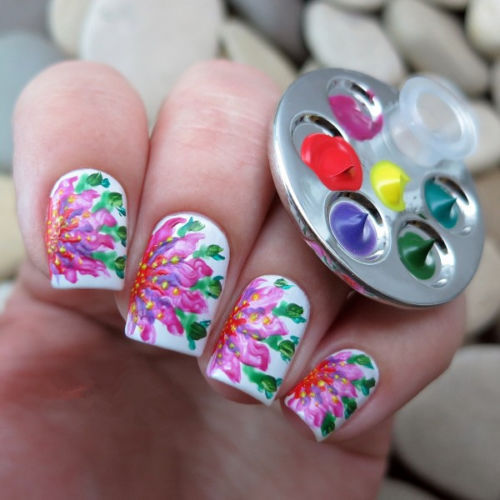 Finger Nail Art: Popular 1 Pc Mini Finger Nail Art Palette For Free Hand