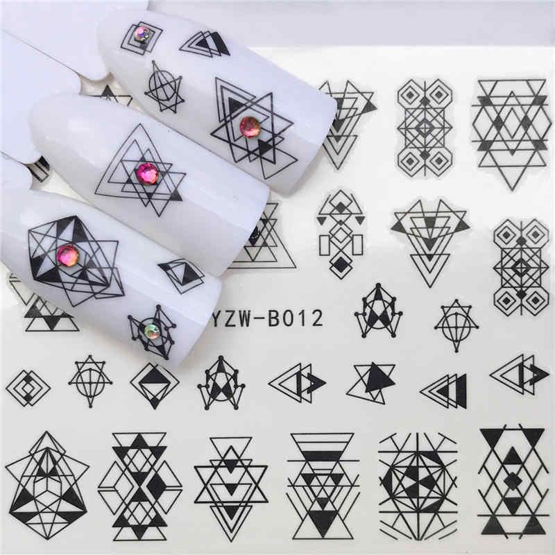 WUF 1 PC fleur curseur eau autocollants décalcomanie pour Nail Art transfert tatouage Gel manucure adhésif décorations pointe