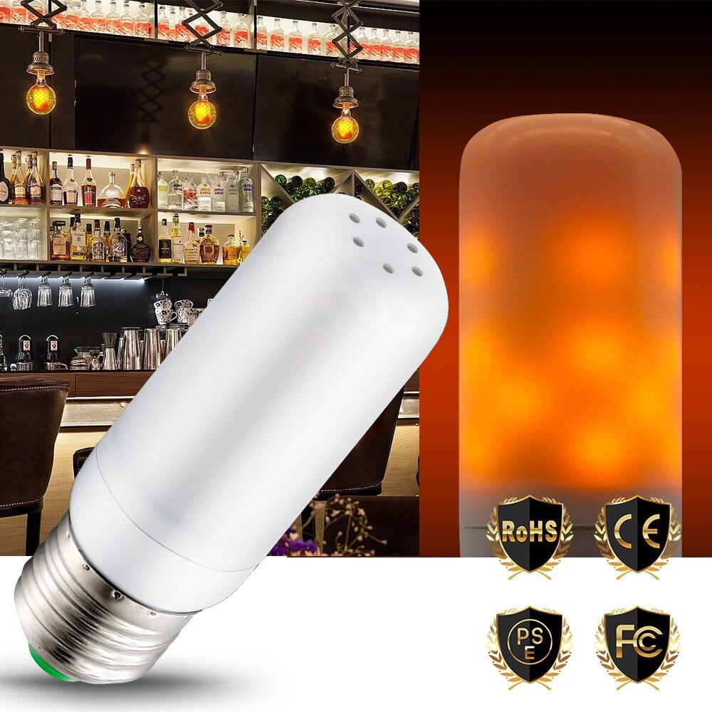 E27 Led Flame Effect Light Led Lamp Candle Bulb 3W Simulation Fire Burning Night Light 2835 SMD Creative Novelty Atmosphere Lamp