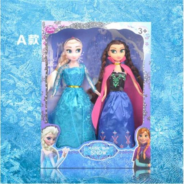 Disney Toys For Kids Child Frozen Dolls Princess Anna And Elsa And ...