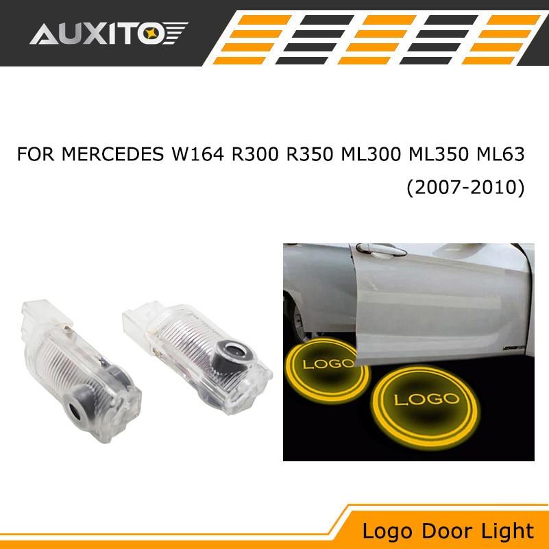 2pcs led car door courtesy ghost shadow logo lights for mercedes w164...