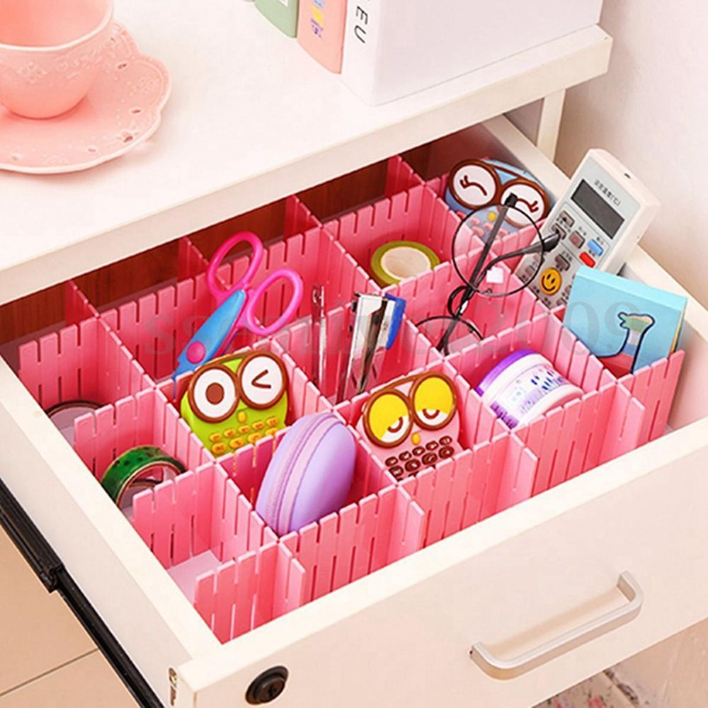 1 pcs DIY Grid Drawer Divider Household Necessities Plastic Storage Home Organizer 1