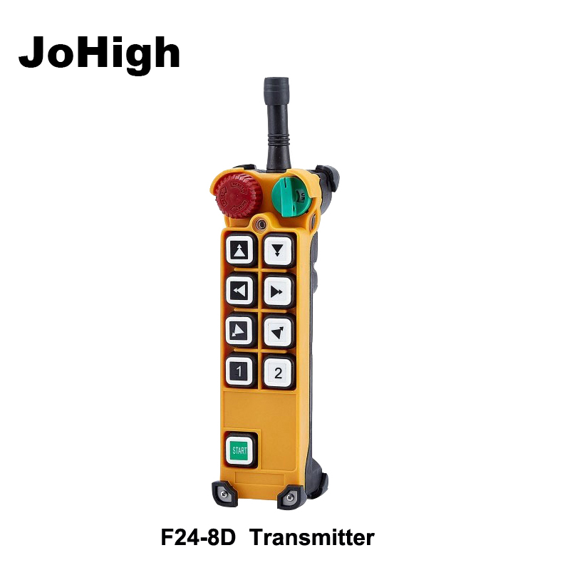 JoHigh Wireless Industrial Crane Remote Controller Transmitter F24 8D Double Speed control transmitter