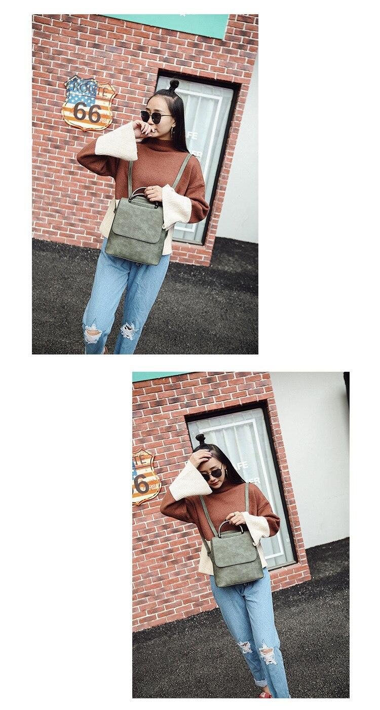 HTB1boapS7zoK1RjSZFlq6yi4VXai Fashion Women Backpack Pu leather travel bagpack large School Shoulder Bags For Teenager Girls mochila feminina 2019 Quality