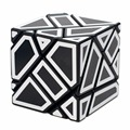 Ghost Cube 3x3 Black Labels White Body + Stickers Fidget Cube