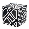 Ghost Cube 3x3 Negro Cuerpo Blanco + Pegatinas Etiquetas Fidget Cubo