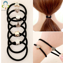 20pcs/lot High Elastic Black Tie Hair Rope