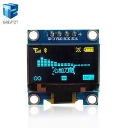"""0,96 дюйма IIC Серийный цвет желтый, синий; размеры 34–43 OLED Дисплей модуль 128X64 I2C SSD1306 12864 ЖК-дисплей Экран доска земля VCC SCL ПДД 0,96 """"для Arduino"""