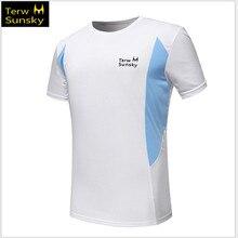 Free Shipping–NEW HOT SALE  Terwsunsky  HQ Men's Outdoor Quick-drying Short-sleeve Running Hiking Gym Sport T-shirt T003