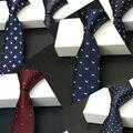 Mens 2017 nano hombres impermeables de alta moda negro corbata flaca corbatas delgadas para hombre jacquard corbata corbatas estrechas 5.5 cm lot