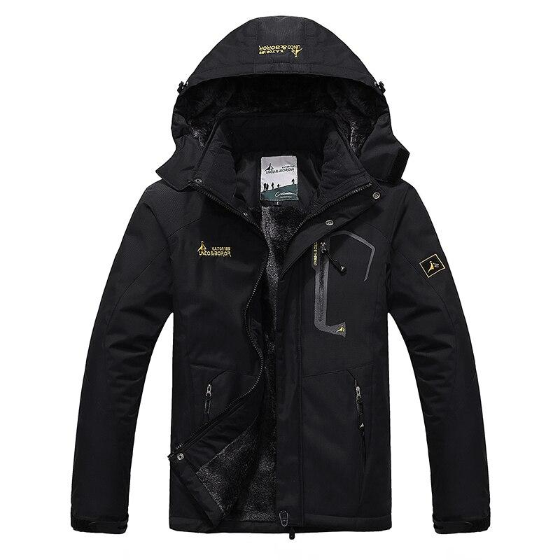 2018 New Winter Jacket Men Thick Warm Velvet Outwear Windproof Waterproof Jacket Windbreaker Hooded Coat Parka Men Plus Size 6XL