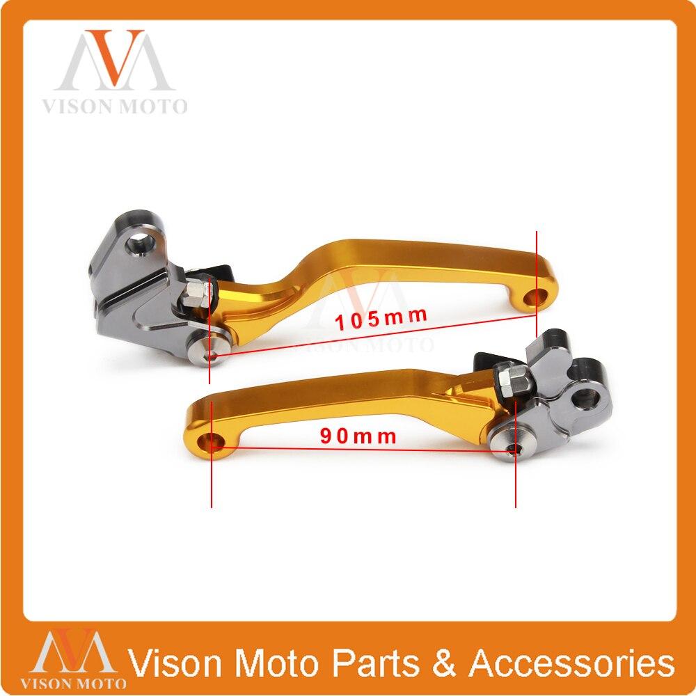CNC Pivot Brake Clutch Levers For Suzuki RM85 05-14 RM125 RM250 04-08 Motocross Enduro Supermotard Dirt Bike
