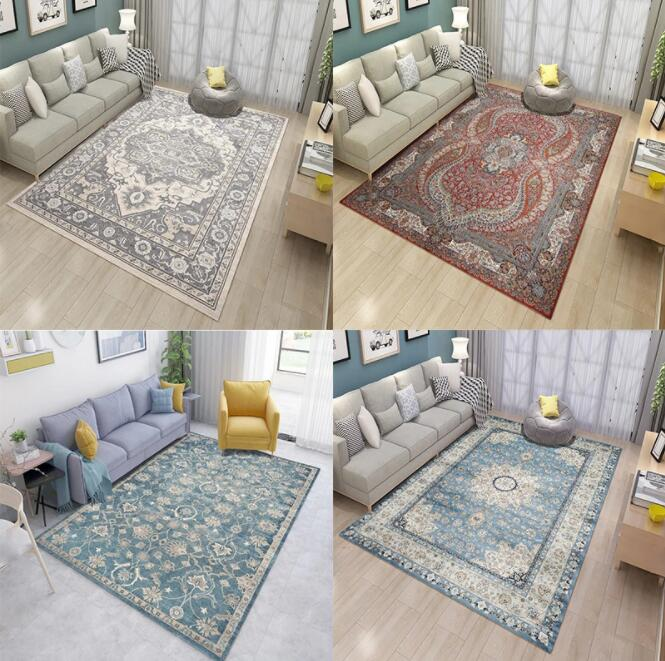 Carpet Turkey 3D Blanket Living Room Carpet Coffee Table Simple  Washable Mat Iran Persian Retro Modern Rug