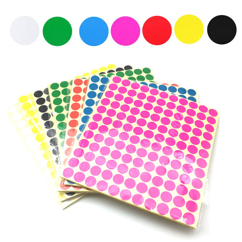 408/260/165/132/70/40 Pcs/Sheet Colorful Empty Paper Sticker For Essential Oil Bottle Cap Lid Label Blank Round Circles Stickers