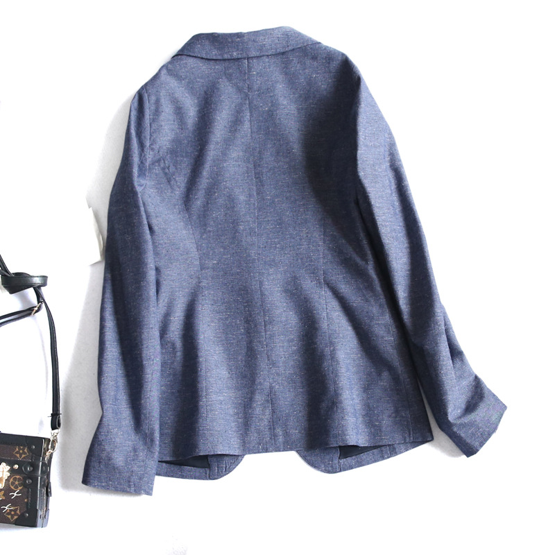 Poches Printemps S Femmes Couleur Dames Costume Yauamdb Style Bleu Solide xl Blazers Japon Linge Vêtements Femme 2018 Y168 Vestes npOdxRdq