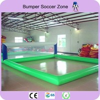 Free Shipping 12*6m 0.9mm PVC Inflatable Water Sports Games For Volleyball Inflatable Volleyball Field Free a Pump