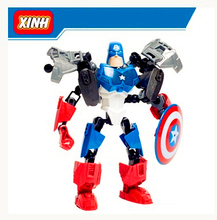 The Avengers Captian America Building Bricks Blocks Marvel Super Hero Toy Figure Lepin Hero Factory