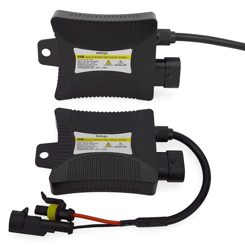 Safego 2 stücke 12 V hid xenon vorschaltgerät 55 Watt Digitale schlank Xenon hid ballast 55 watt block zündung für HID kit xenon H7 H4 H1 H3 H11