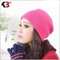 Moda Otoño Caliente de Invierno Beanie Sombrero Costilla De Punto Beanie Sombrero de Invierno Tabla de Snowboard de Esquí Sombrero de Gran Tamaño Suave