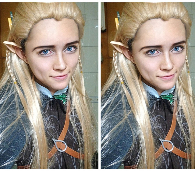 IMCOSER high quality  Free shipping The Hobbits/The Lord of the rings Legolas Greenleaf Cosplay Wig Light Brown