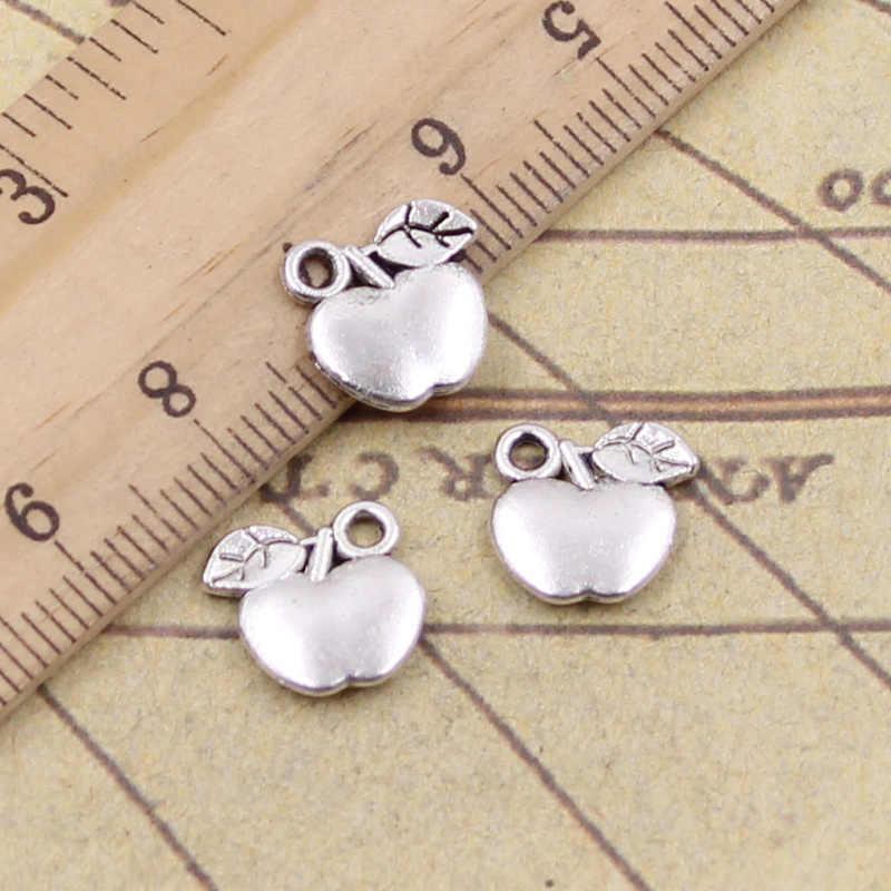 20 pçs/lote Encantos Tibetana Pingentes de Prata da apple 10 x10mm Antique Jewelry Making DIY Handmade Artesanato para Pulseira Colar