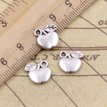20pcs/lot Charms Apple 10x10mm Tibetan Pendants Antique Jewelry Making DIY Handmade Craft For Bracelet Necklace 12pcs lot charms retro camera 15x14mm tibetan pendants antique jewelry making diy handmade craft for bracelet necklace