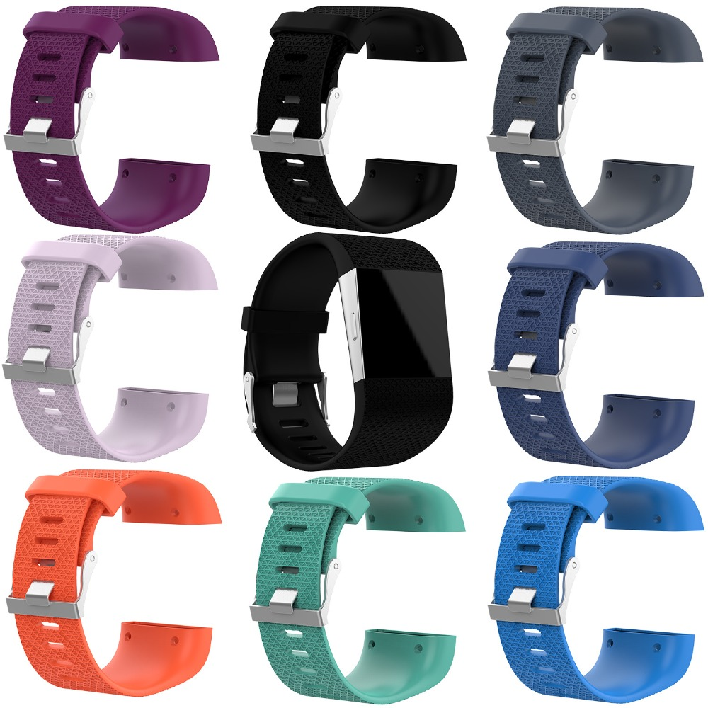 Tonbux Watch-Strap Wrist-Band Fitbit Surge Replacement TPE for with Repair-Tool