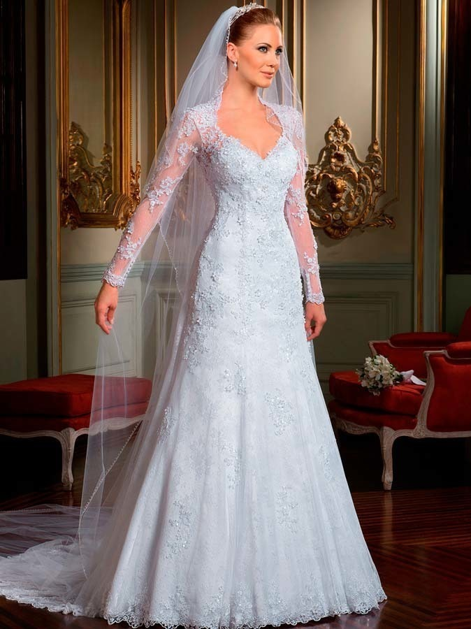 Online Get Cheap Keyhole Back Lace Wedding Dresses Aliexpresscom