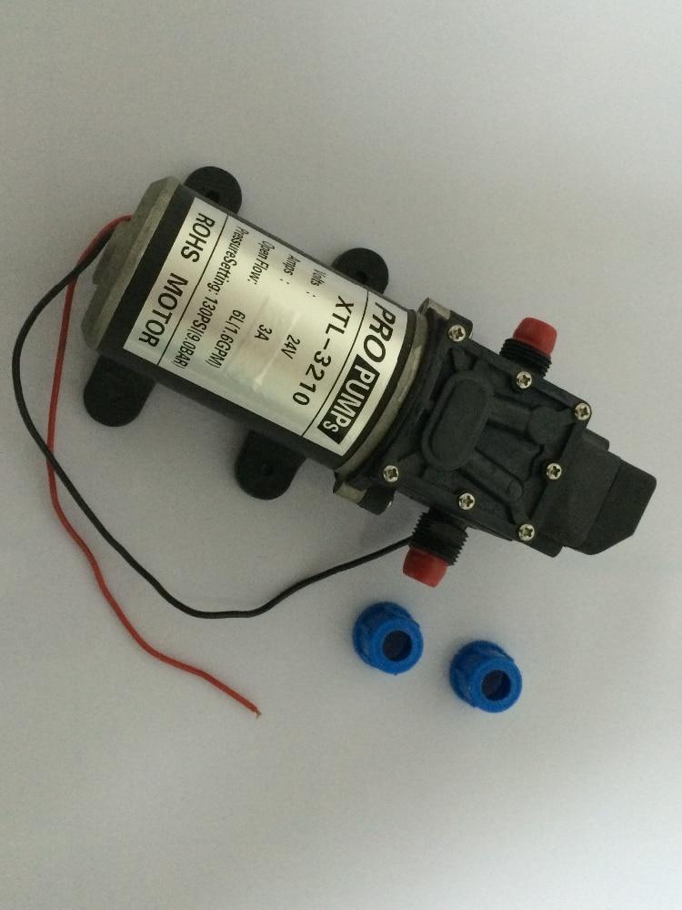 Micro electric diaphragm pump High pressure water pump 3210YB 24V 80W Self Priming pump For Car wash Fruit trees spraying