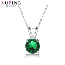 Xuping Simple Colorful Charm Design Jewelry Rhodium Color Plated Pendant for Women Valentines Day Gifts S127-32974