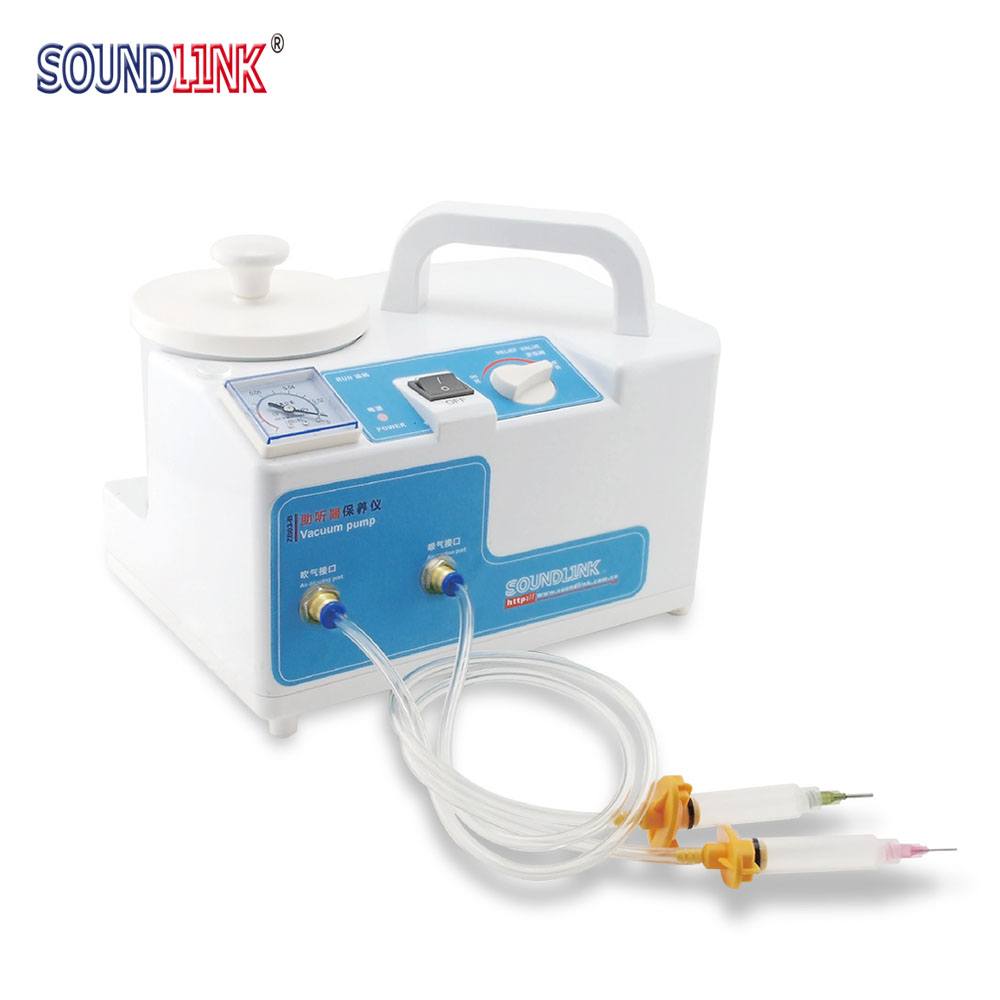 Hearing Aid Vacuum Pump Cleaner Maintenance Device for BTE CIC ITC IEC Hearing Aids Cochlear Implant Earmold IEM medical hearing aids stethoscope with couple testing bte ite itc cic hearing aids
