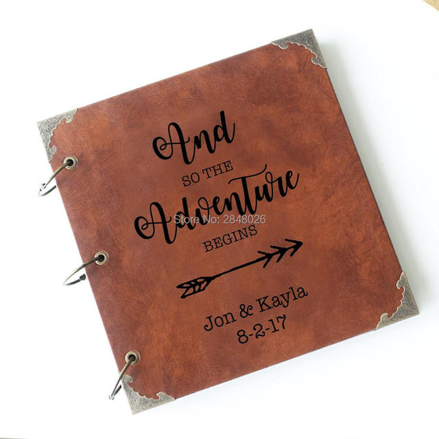 50 Pages And So The Adventure Begins Personalized Engraved Leather