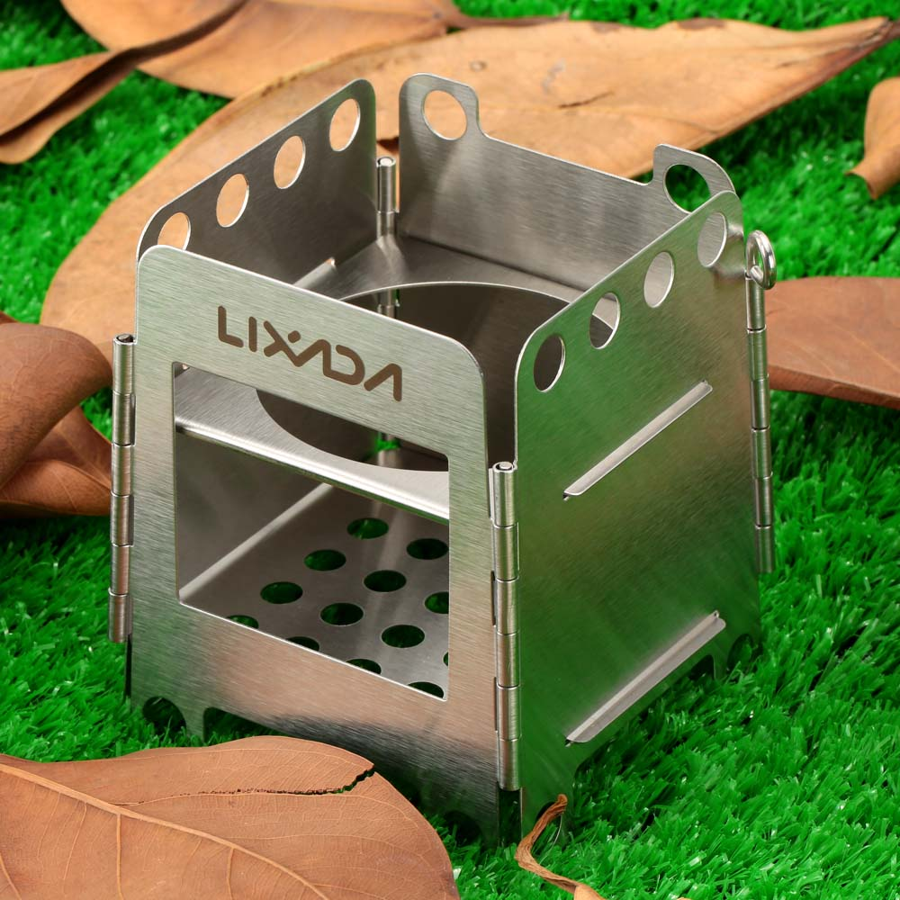 Portable Camping Stove Outdoor Backpacking Survival Wood Burning Mini Stove
