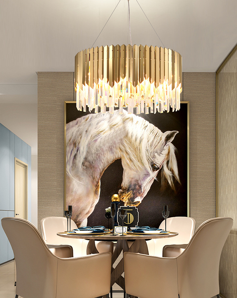 American living room dining room crystal chandelier creative personality modern minimalist light luxury postmodern designer lamp in Pendant Lights from Lights Lighting