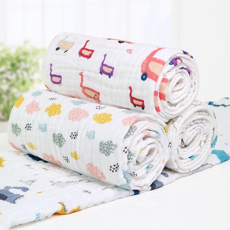 135X180 cm bébé couverture respirante mousseline 3 couches Wrap nouveau-né literie couvertures Swaddle