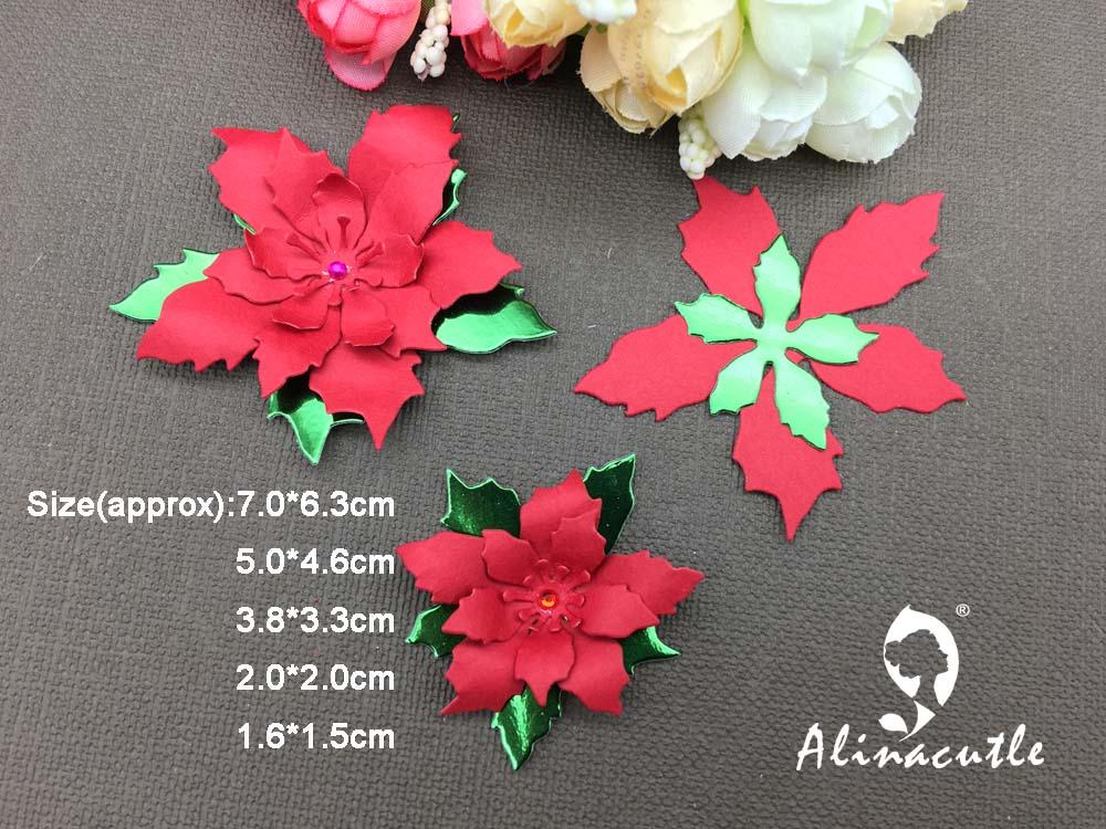 3 Dies *** *** Poinsettia Couches Fleur ***