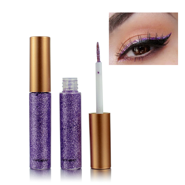 New Shimmer Glitter Eyes Liner For Women Make Up Easy to Wear Waterproof Pigment Red White Gold Liquid Eyeliner Glitter Makeup 2