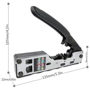 Image 2 - Combo ağ Rj45 aracı telekom sıkma Crimper Rj45 Cat7 Cat6A Cat6 Cat5 Rj11 Rj12 modüler fişler Metal klipleri pense aracı