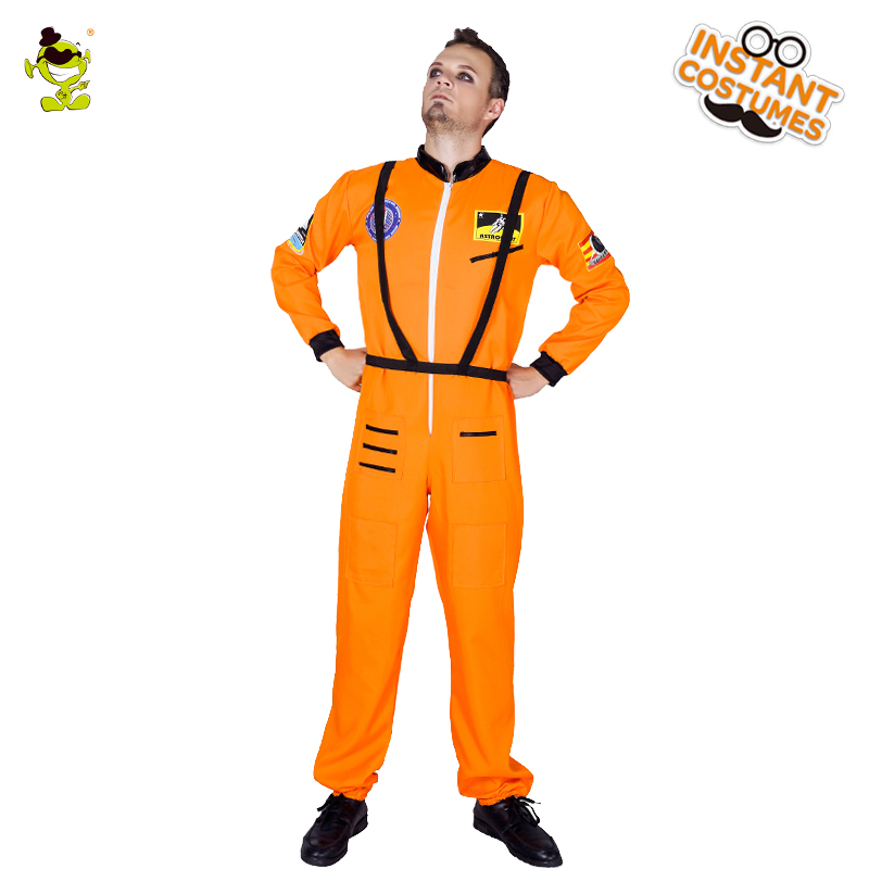 New Arrival Men's Pilot Man Costume Orange Color Masquerade  Career Pilot Clothes Role Play Carnival Party For Adult Men's
