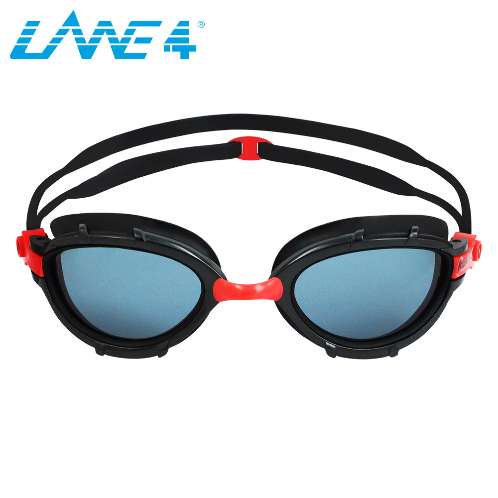 LANE4 Swimming Goggles water sports Triathlon Superior Anti fog Coating Curved Lenses Wire Frame UV Protection