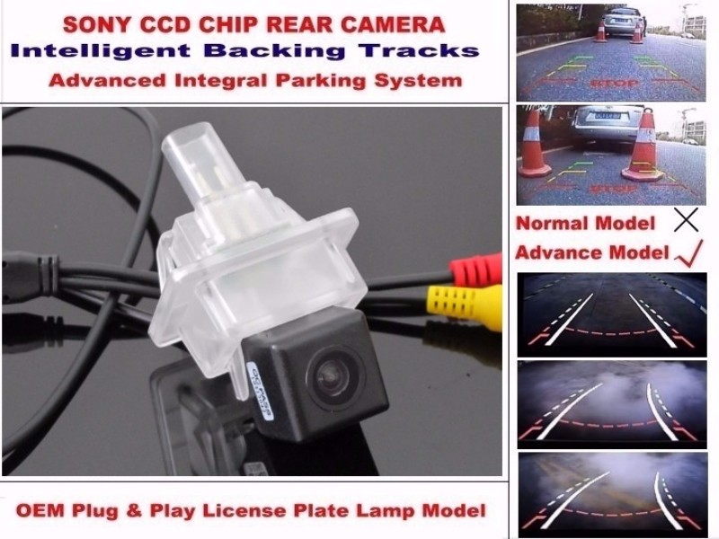 For Mercedes Benz E Class A207 C207 W212 W213 2013 ~ 2016 Smart Tracks Chip Camera HD CCD Intelligent Dynamic Rear View Camera (3)