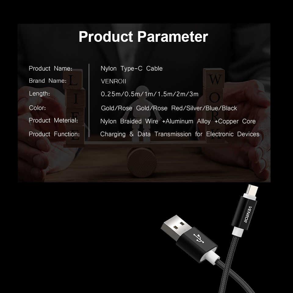USB نوع C كابل 3M 2M سريع شحن البيانات Kable لسامسونج S8 S9 ل شياو mi mi mi x ماكس 3 2S A2 8 6 هواوي P20 برو الشرف 10 لايت
