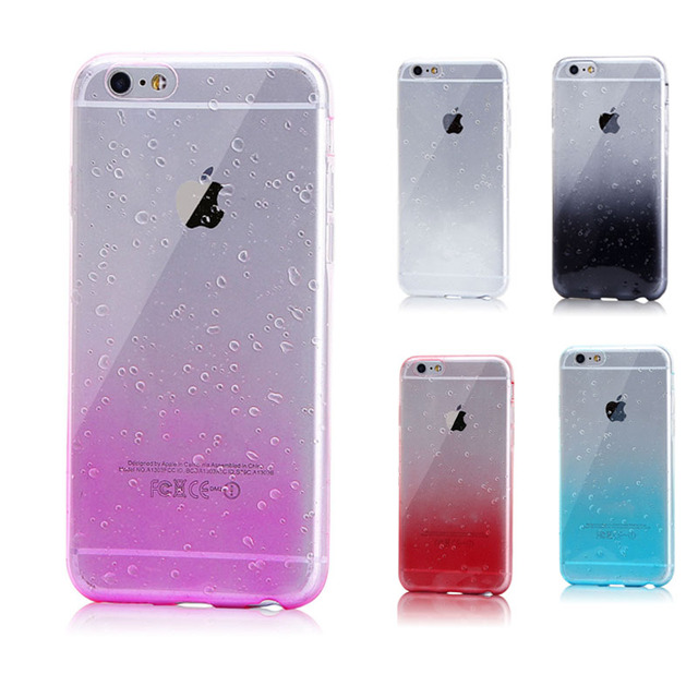de24f92340 For Apple IPhone8 Luxury 3D Water Drop Gradient Phone Cases for IPhone 8 8  Plus Silicone Soft Back Cover Capa Funda Coque